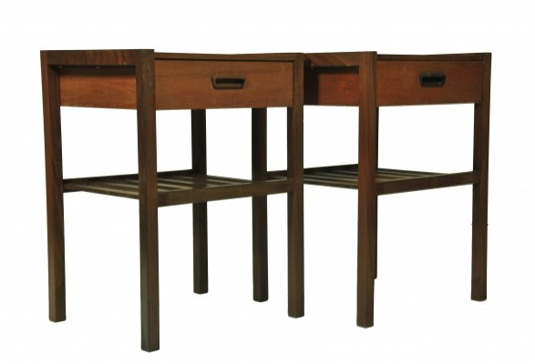 Pair of Nightstand side tables, 1960s
