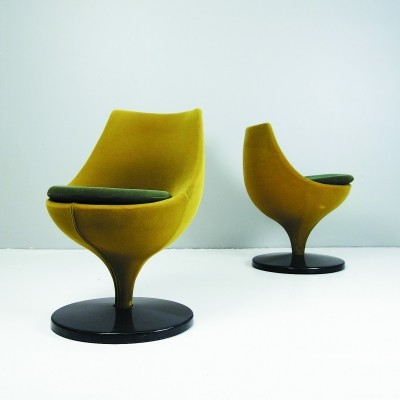 Pair of Polaris dinner chairs by Pierre Guariche for Meurop, 1950s