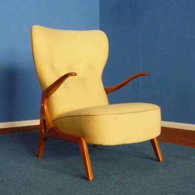 Mid Century Wingback chair in Scandinavian style, 1950s