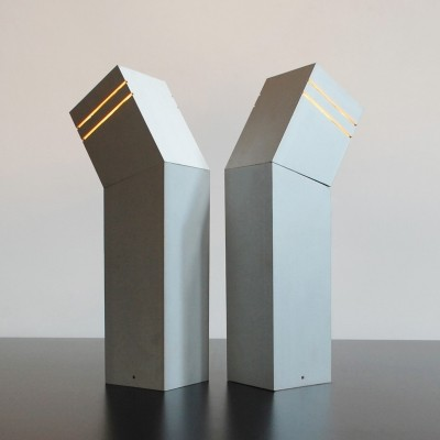 Pair of D2047 'Glimwormpje' desk lights by Elburg for Raak Amsterdam