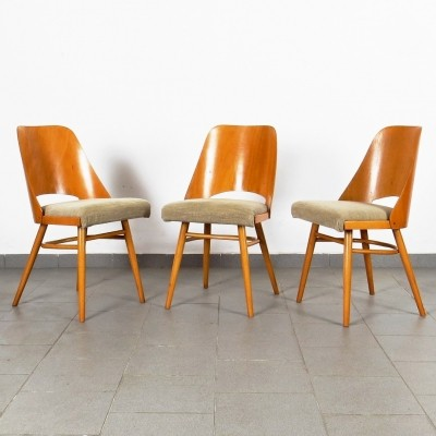 Set of 3 Ton Czechoslovakia dinner chairs, 1960s