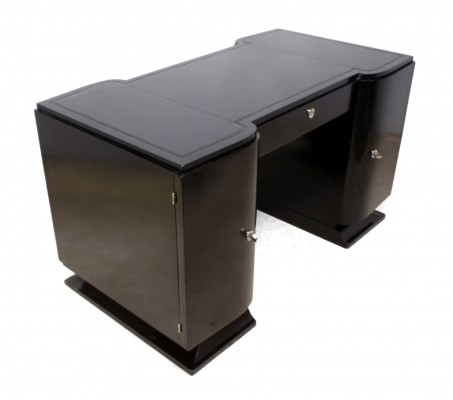 French Art Deco Desk Piano Black c1930