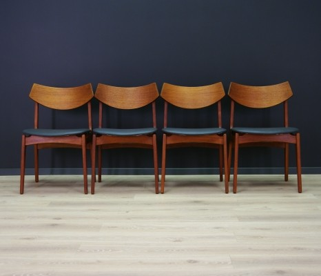Set of 4 Funder Schmidt & Madsen dining chairs, 1960s