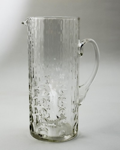 Mid-Century Swedish Glass Water Jug by Kosta Boda, 1970s