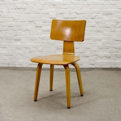 Dutch Design Beech Wood Side Chair SB02 by Cees Braakman for Pastoe, 1950s