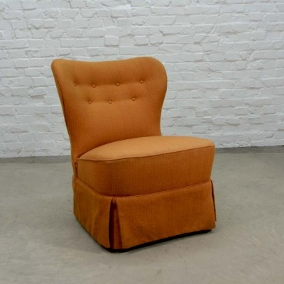Mid-Century Orange Cocktail Chair by Theo Ruth for Artifort, 1950s