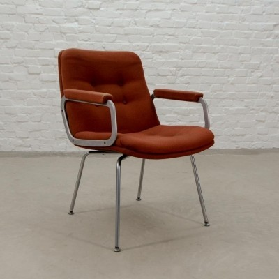 Mid-Century Stone Red Side Chair by Geoffrey Harcourt for Artifort, 1960s