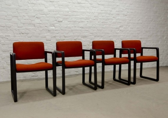Set of Four Ypsilon Dining Chairs by Just Meyer for Kembo, 1970s