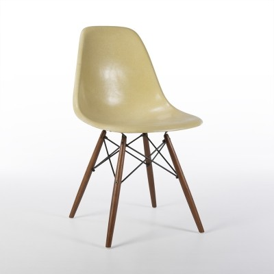 Original Herman Miller Parchment Eames DSW Dining Side Chair