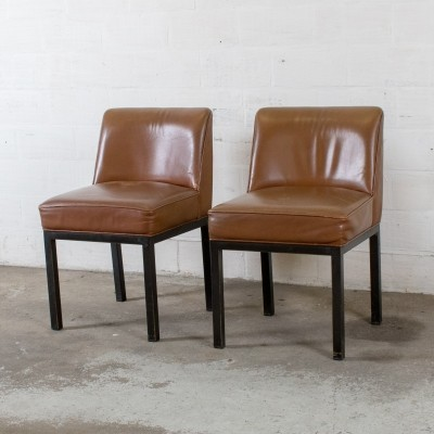 2 x Louise dinner chair by Jules Wabbes for Mobilier Universel, 1960s