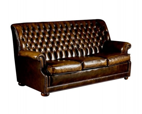 Brown Leather 'Cleveland' sofa by Art Forma Upholstery Ltd, 1970s