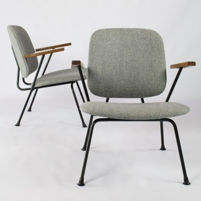 Pair of lounge chairs by W. Gispen for Kembo, 1950s