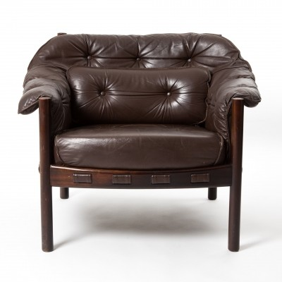 Arne Norell lounge chair in teakwood & leather