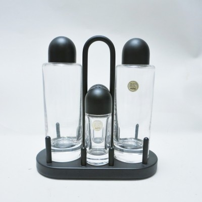 Condiment set by Ettore Sottsass for Alessi, 1960s