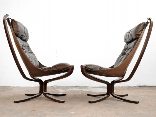 Pair of Falcon Chairs by Sigurd Resell for Vatne Møbler