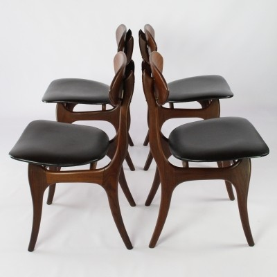Set of 4 dinner chairs by Louis van Teeffelen for Wébé, 1960s