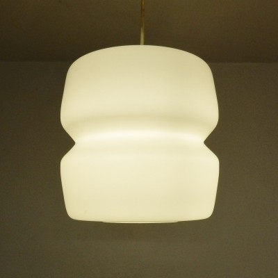 11 x Opaline glass hanging lamp, 1960s