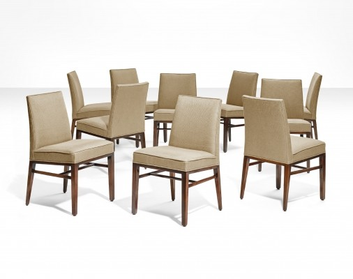 10 Dining chairs by Edward J. Wormley, Dunbar ca 1950s