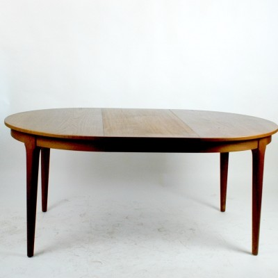 Danish Modern Circular Teak Dining Table by Frem Rojle
