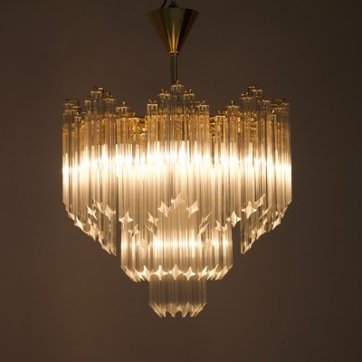 Large Murano Glass Chandelier, Italy 1970s