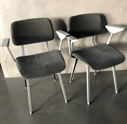 Pair of Revolt dining chairs by Friso Kramer for Ahrend de Cirkel, 1960s