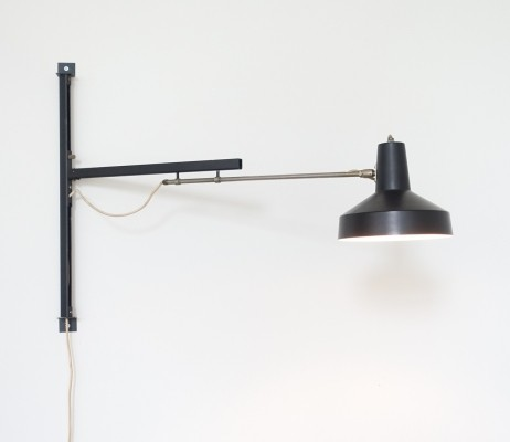 Telescope wall lamp by Niek Hiemstra for Hiemstra Evolux, 1960s