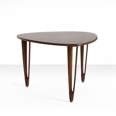 Rosewood Triangular Coffee Table by B.C. Møbler, Denmark 1950s
