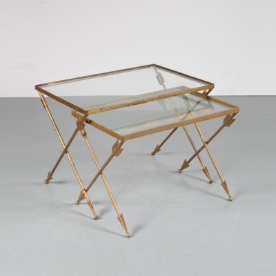Pair of vintage nesting tables, 1950s