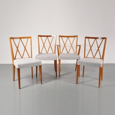 Set of 4 A. Patijn dinner chairs, 1950s