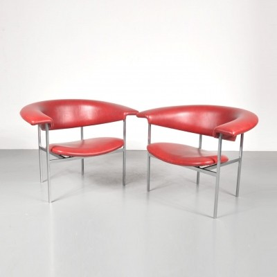 2 x lounge chair by Rudolf Wolf for Elsrijk, 1960s