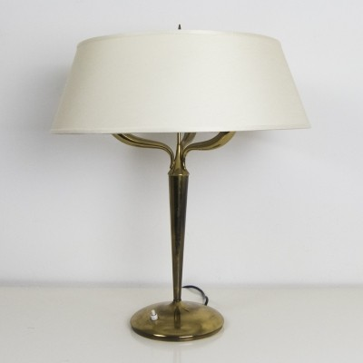 Tall brass table lamp by Emilio Lancia, 1940s