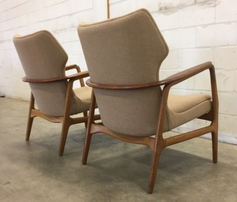 Pair of lounge chairs by Aksel Bender Madsen for Bovenkamp, 1950s