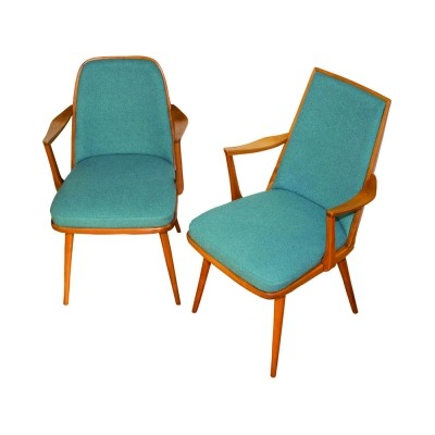 Pair of Mid-Century Danish armchairs for her & him, 1960s