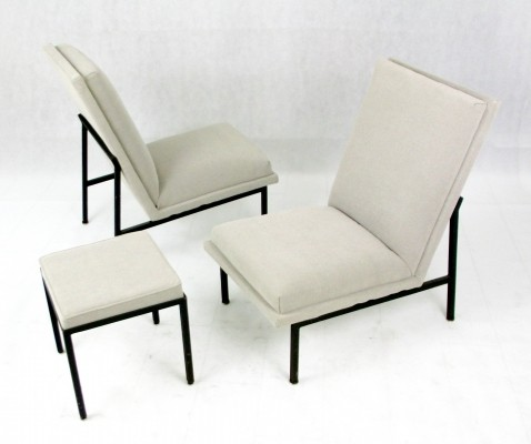 Pair of lounge chairs by Carlo Graffi for Home Torino, 1950s