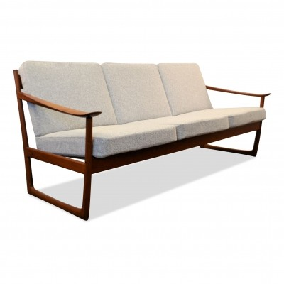 Peter Hvidt & Orla Mølgaard-Nielsen teak Model FD-130 3-seating sofa