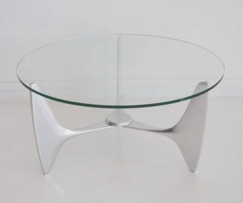 Coffee Table with Tripod Aluminum Frame