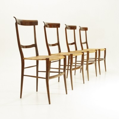 Set of 4 Ramba dinner chairs by Emanuele Rambaldi for Colombo Sanguineti, 1950s
