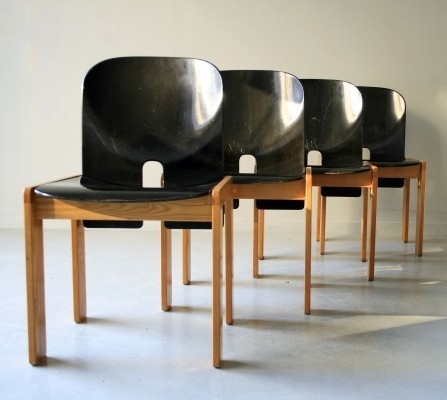 Set Of 4 Model 121 Dinner Chairs By Tobia Scarpa U0026 Afra Scarpa For Cassina,
