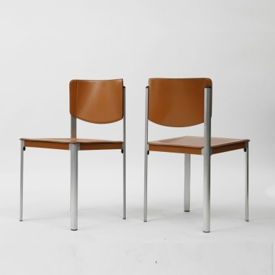 Pair of Korium dinner chairs by Tito Agnoli for Matteo Grassi, 1970s