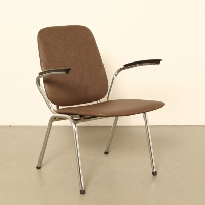 Brown skai 'model 100' armchair by Vepa, 1960s