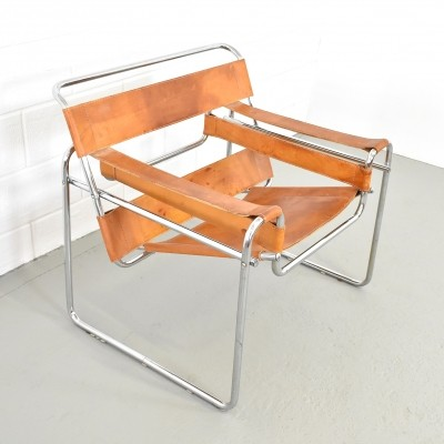 Wassily B3 lounge chair by Marcel Breuer for Fasem, 1960s