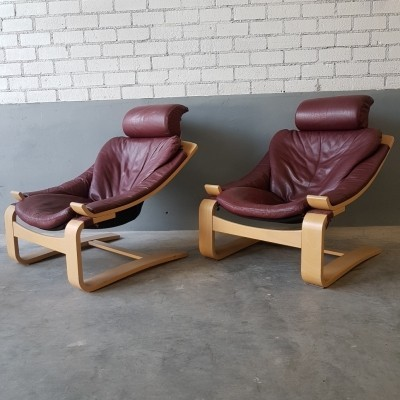 Pair of Kroken lounge chairs by Ake Fribytter for Nelo Mobel, 1970s