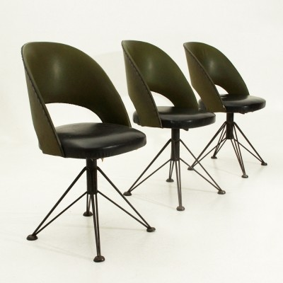 vintage office chair. Set Of 3 Vintage Office Chairs, 1950s Chair