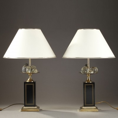 Pair of vintage desk lamps, 1980s