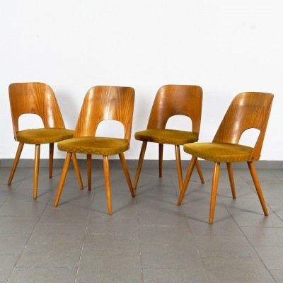 Set of 4 dinner chairs by Oswald Haerdtl for Ton Czechoslovakia, 1960s