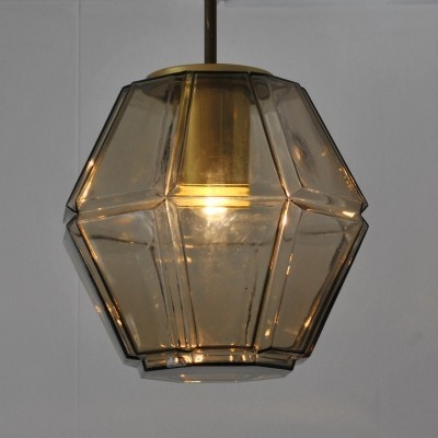 Lantern hanging lamp by Glashütte Limburg, 1960s