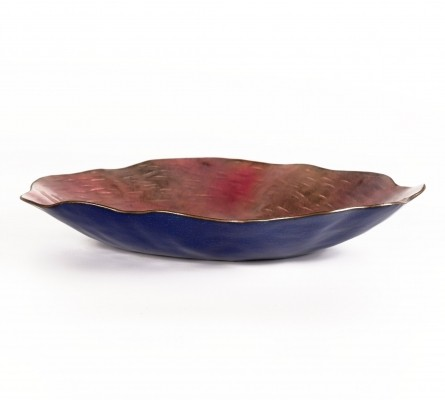 Enameled copper dish by Paolo De Poli, 1950s