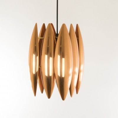 Copper Kastor pendant by Jo Hammerborg for Fog & Mørup