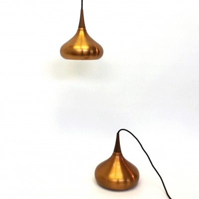 Pair of Orient minor hanging lamps by Jo Hammerborg for Fog & Mørup, 1950s