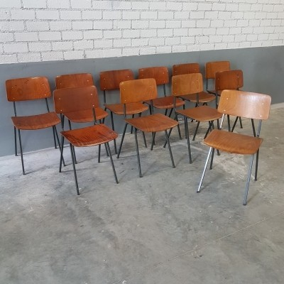 11 x industrial plywood school chair by Eromes